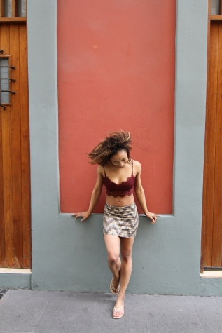 Crop Top from Top Shop; Skirt from Zara
